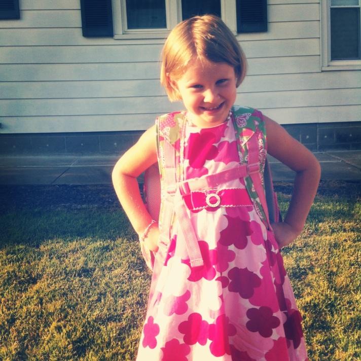 Sofia's 1st day of Kindergarten
